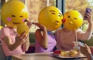 Mc Donald's lanzó el año pasado en Francia, una campaña con emojis.