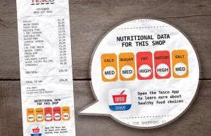 Un diseñador británico propone agregar información nutricional de los alimentos al final de las facturas de los supermercados.