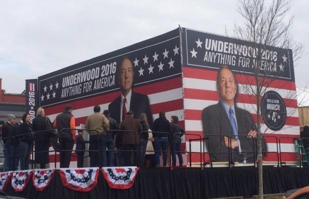 Netflix creó una falsa campaña para promocionar a Frank Underwood.
