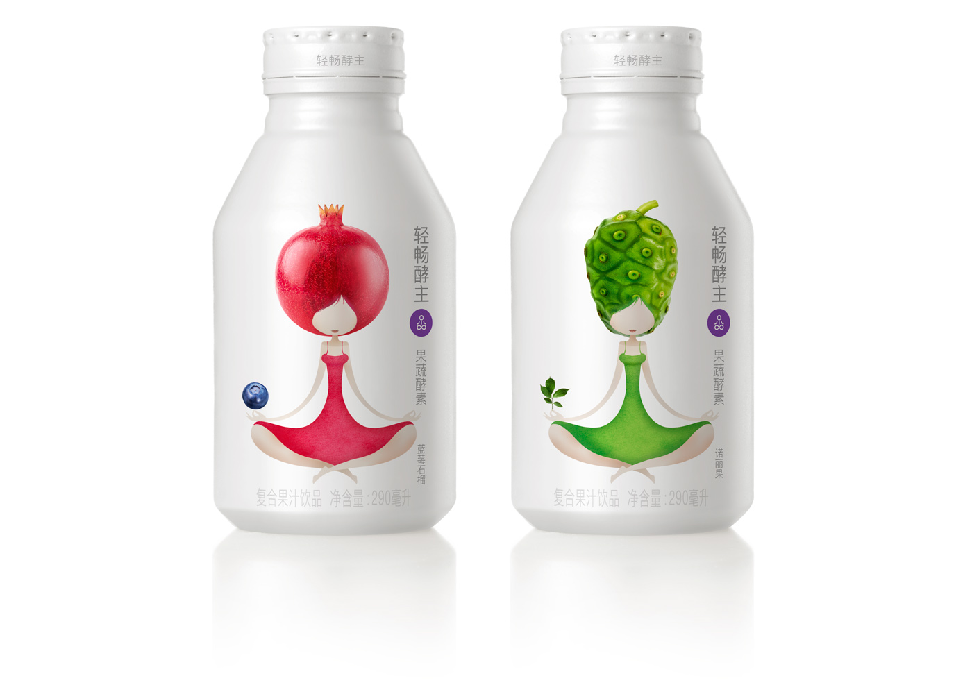 mouse graphics - enzyme fruit drink
