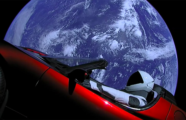 tesla spacex stunt 2018