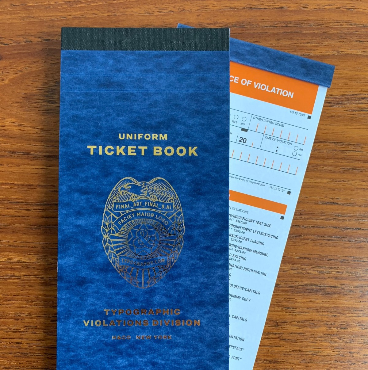 Imagen 001 Typographic Ticket Book