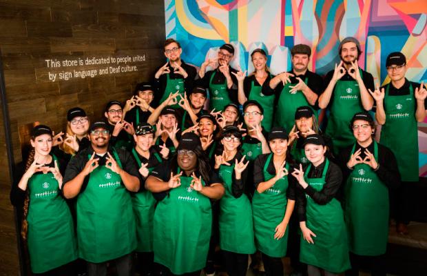 Destacada Starbucks cafeteria sordos